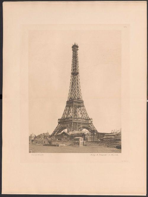 Costruzione-della-Torre-Eiffel,-livello-finale
