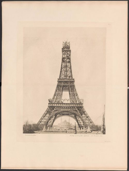 Costruzione-della-Torre-Eiffel,-quarto-livello