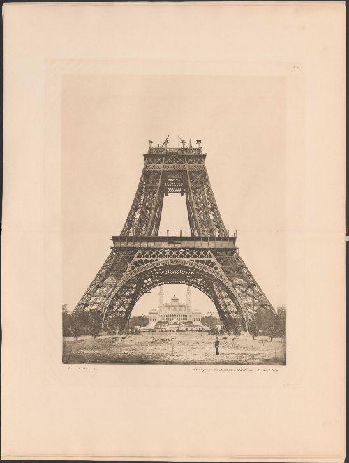 Costruzione-della-Torre-Eiffel,-terzo-livello